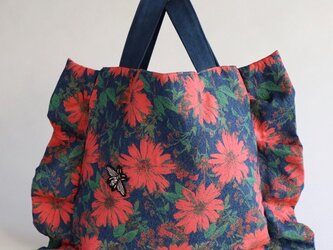 flower frill bag (pink)の画像