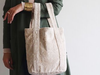 damask tote bag (ecru)の画像