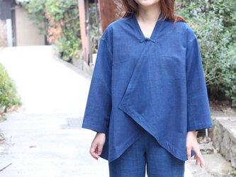 インディゴ・羽織りジャケットの画像