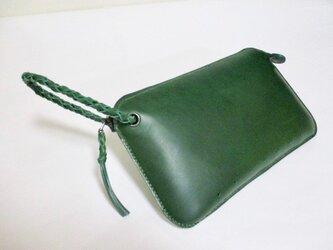 ブッテーロのクラッチバッグ(緑)の画像