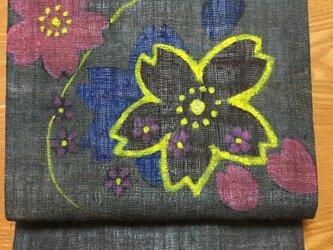 桜の名古屋帯の画像