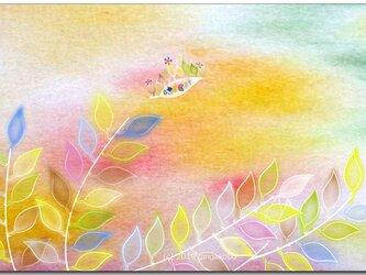 「旅立ち」 ほっこり癒しのイラストポストカード2枚組No.729の画像
