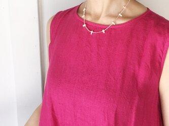 コーラルピンクの珊瑚ネックレスの画像