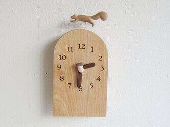リス君とドングリ 掛・置き時計の画像