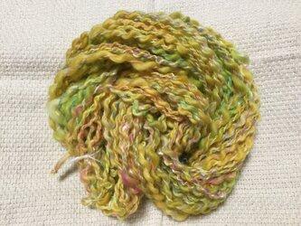 【手紡ぎ糸(スピンドル)の販売です✨】  メリノウール シルク その他 42gの画像