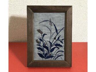 手刺繍浮世絵フレーム*喜多川歌麿「蛍」の画像