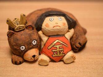 五月人形、金太郎とクマ(売れました)の画像