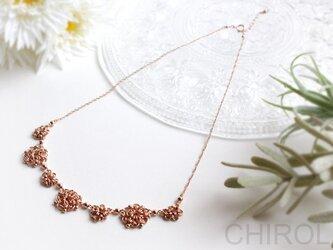 チェーンの モチーフ✿ お花 ネックレス/ 14kgf Pinkの画像