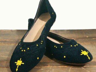[SALE]Rangori Flat shoes ランゴリ レザーパンプス E.blackの画像