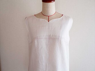 tulip tunic -white-の画像
