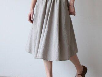 Linensilk skirt / light grayの画像