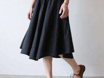 Linensilk skirt / blackの画像