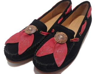 [SALE]Fita Moccasin shoes フィタ レザーモカシン D.blackの画像