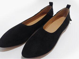 [SALE]Baki Slipon shoes バキ レザースリッポン A.blackの画像