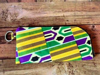 811アフリカパーニュL字ファスナー長財布の画像