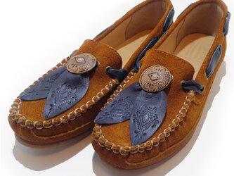[SALE]Fita Moccasin shoes フィタ レザーモカシン C.mustardの画像