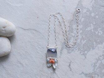 モンタナアゲートのシルバーペンダントネックレスの画像