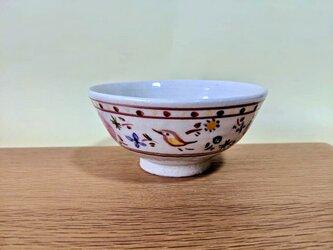 ざおうの森シリーズ ごはん茶碗  ピンク花の画像
