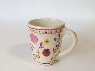 ざおうの森シリーズ 取手付きカップ いちご ピンク花の画像