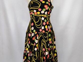 着物地ティアードドレス/着物ワンピース/着物ドレス/和ドレス 1903d01の画像