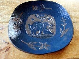 くまさんの平皿の画像