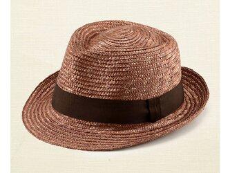 ノア 中折れ 麦わら帽子 ストローハット ブラウン 59cm [UK-H005-L-BR]の画像