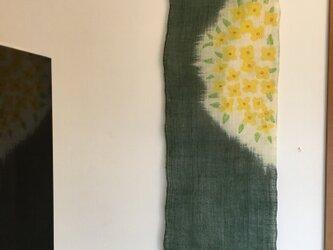 菜の花のタペストリーの画像