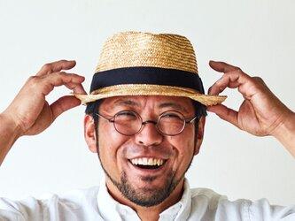 ノア 中折れ 麦わら帽子 ストローハット ナチュラル 57.5cm [UK-H005-M-NA]の画像
