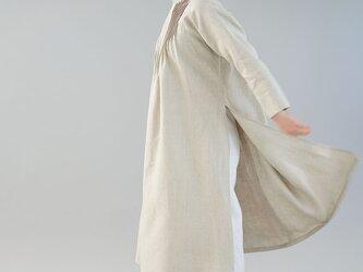 【wafu】中厚 リネン ワンピース ピンタック アオザイ風リネンドレス ラグラン袖 / 亜麻ナチュラル a089a-amn2の画像