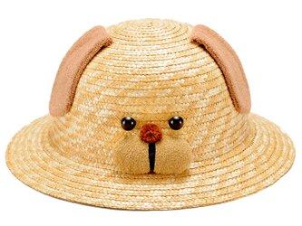 動物帽子 いぬ ブラウン 子供用 52cm [UK-H010-D52]の画像