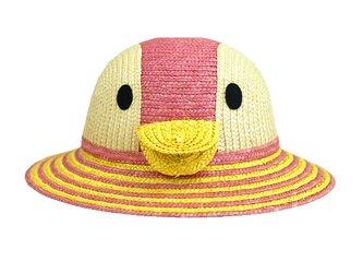 動物 麦わら帽子 ペンギン ストローハット ピンク 52cm [UK-H010-PP52]の画像