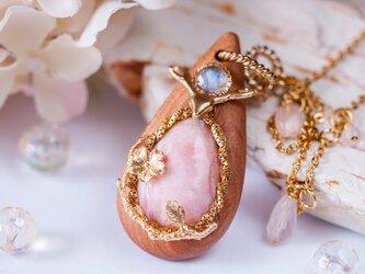 【桜】ネックレス/ピンクオパール×桜の木の画像