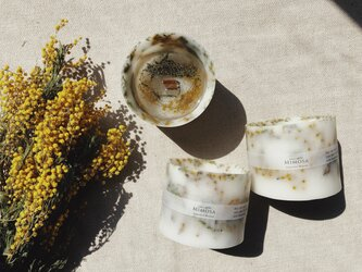 ○香りが選べる○ミモザのボタニカルキャンドル/candlemimosaの画像