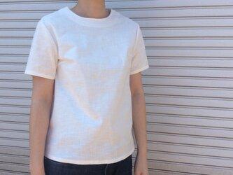 リネンの体型カバーTブラウスの画像