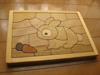 木製パズル(うさぎ)の画像