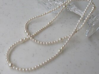 M様用♪あこや真珠デザインロングネックレスクラスプ加工 (4mm~8mm珠80cm)N-8の画像