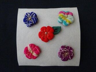 古布 お花のパーツ✿5個セット no170の画像