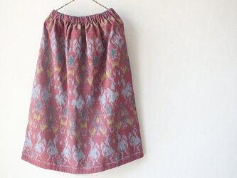 あひるのダンス~手織り綿スカートの画像