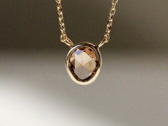 Natural Brown Diamond Necklace / K18YGの画像