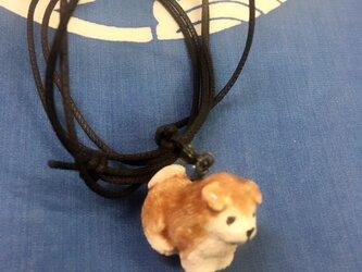陶 柴犬 ペンダントの画像