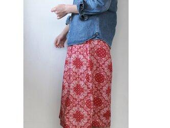 ガウチョパンツ / リネンの赤ペイズリーの画像
