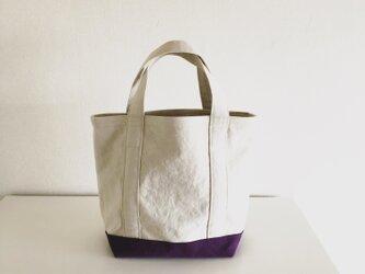 TOTE BAG (L) / ecru-grapeの画像