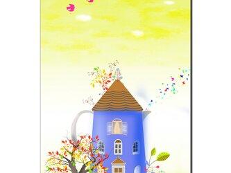 「ケトルハウス」 ほっこり癒しのイラストポストカード2枚組No.733の画像