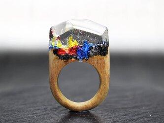 【送料無料】Pop Mountain ~Resin Wood Ring~の画像