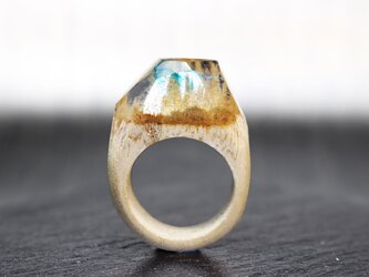 【送料無料】Transparent Sky ~Resin Wood Ring~の画像