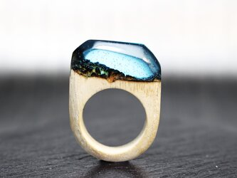 【送料無料】Mountains of the night ~Resin Wood Glow Ring~の画像