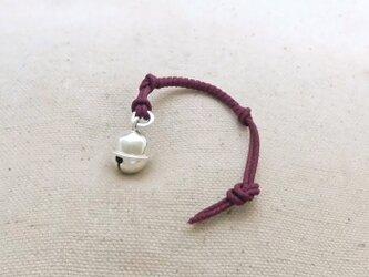 銀製の鈴 『 丸型・小 』 (シルバー925) 根付・帯留飾りの画像