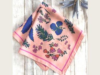 Flower シルクスカーフ ~PINK~の画像