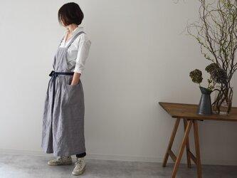 リネン エプロンドレス Dressy line Grayの画像