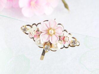 桜のポニーフック *つまみ細工*の画像